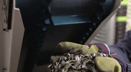 Hard disk shred